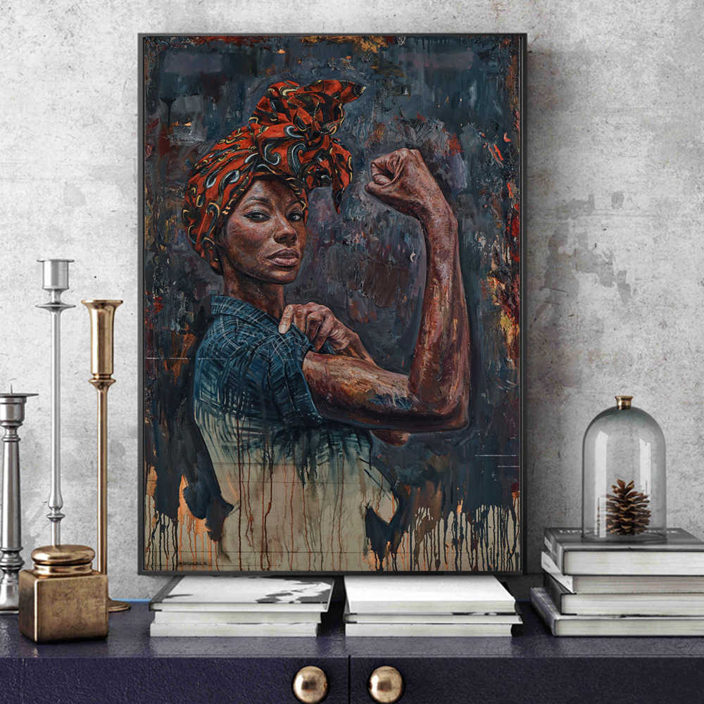 Powerful Black Women Canvas Paintings On The Wall Posters And Prints Portrait Of Black Woman Wall Pictures For Living Room Decor