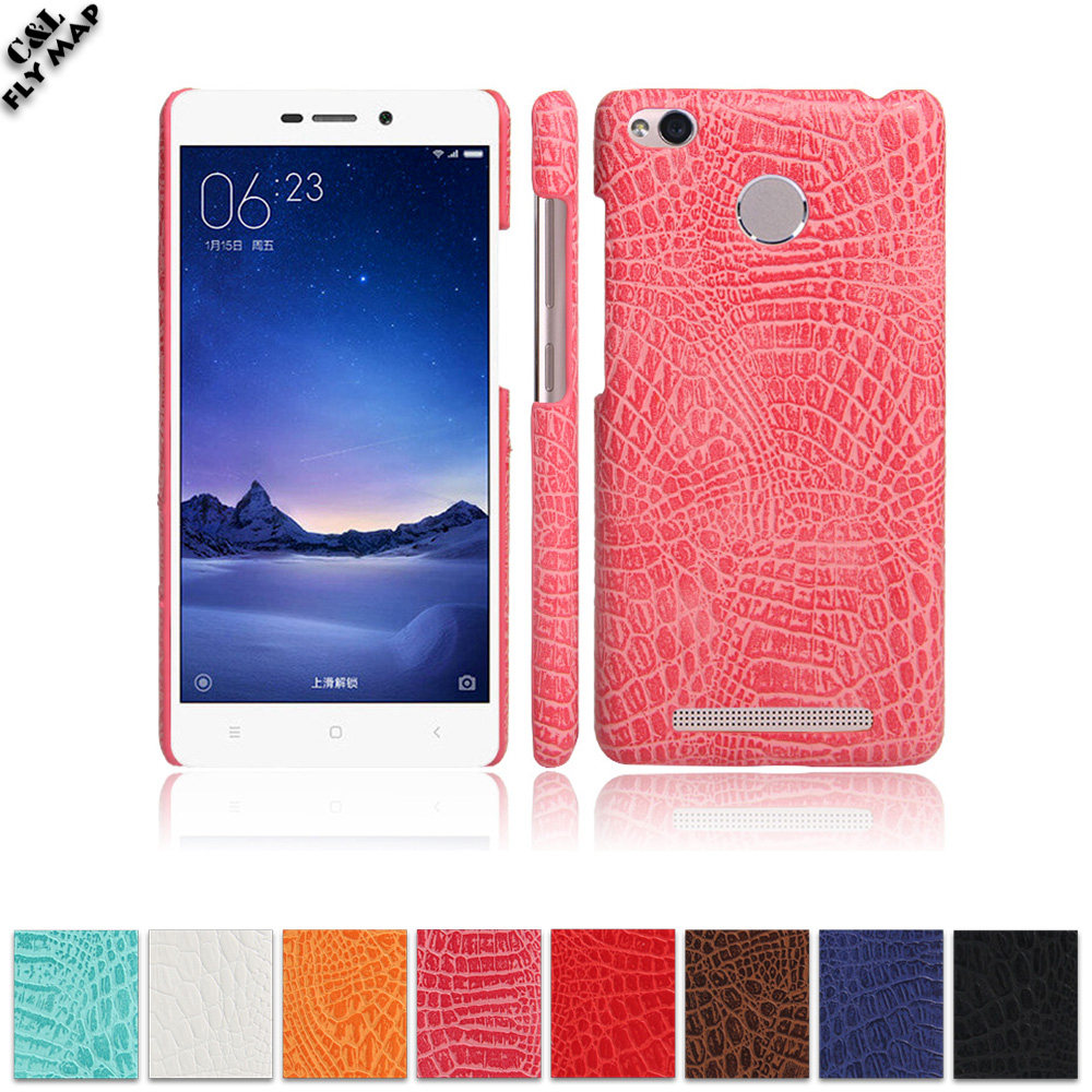 Crocodile Case For Xiaomi Redmi 3S 3 S Hard PC Protective Phone Cover Coque For Xiao Red mi S3 Hongmi Redmi3 S Redmi3S Shell Bag