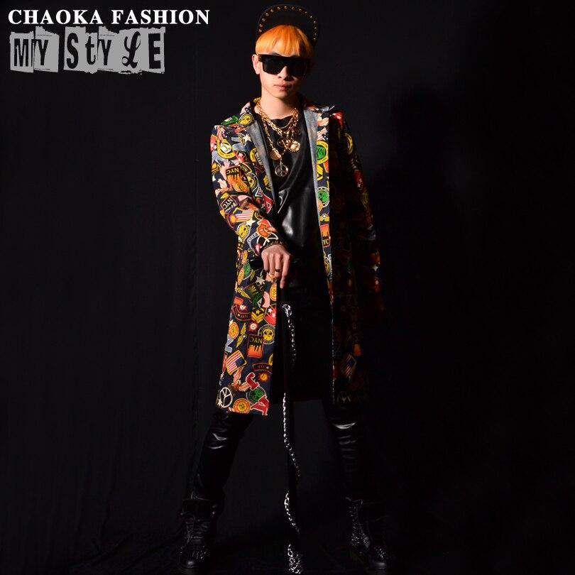 Scène Picture Longue Hop Plus Mode Offre Hommes De As 2015 Gd Hip Vêtements Taille Nouveau Dj Chanteur Pour Spéciale Imprimer Chemise Costumes S1Z7nnq