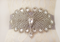 Wedding Belt Bridal Belt Sash Belt Crystal Rhinestone Rhinestone belt peacock theme atmosphere, luxurious
