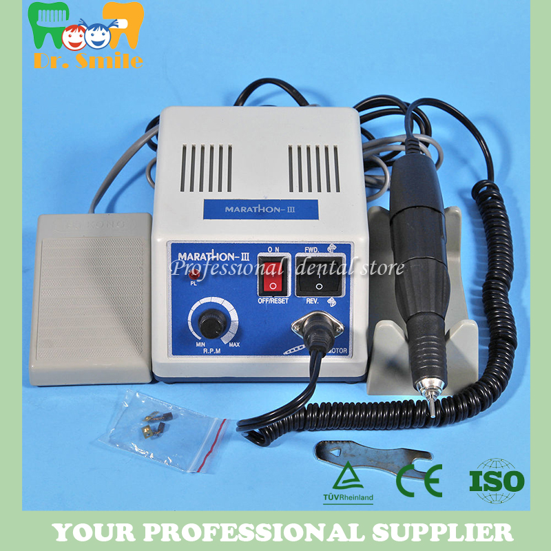 Marathon Dental Lab Electric Polishing Micromotor N3 35K RPM Motor and lab Handpiece dental lab marathon micromotor machine n3 35k rpm electric motor gold