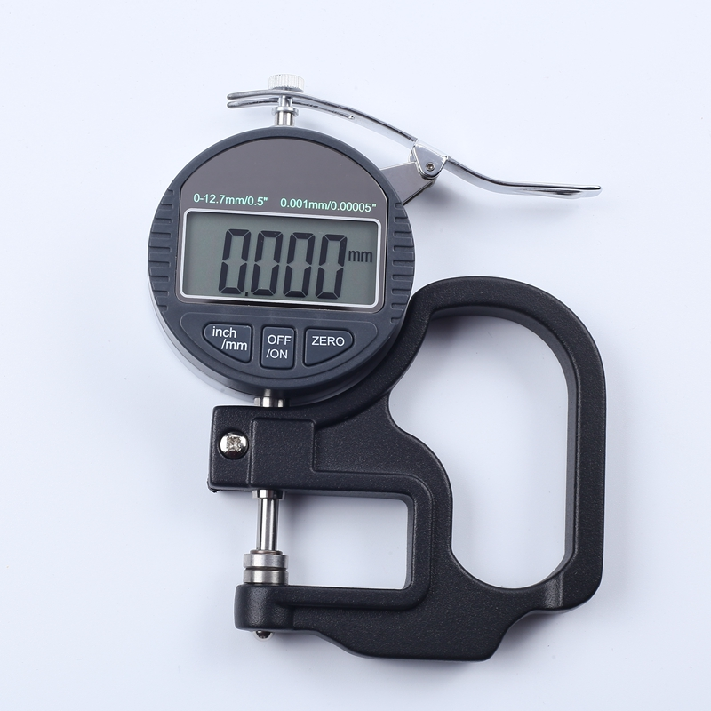 0 001mm Digital Thickness Gauge Meter 10mm Portable LCD Electronic Micrometer micron Thickness Tester With RS232