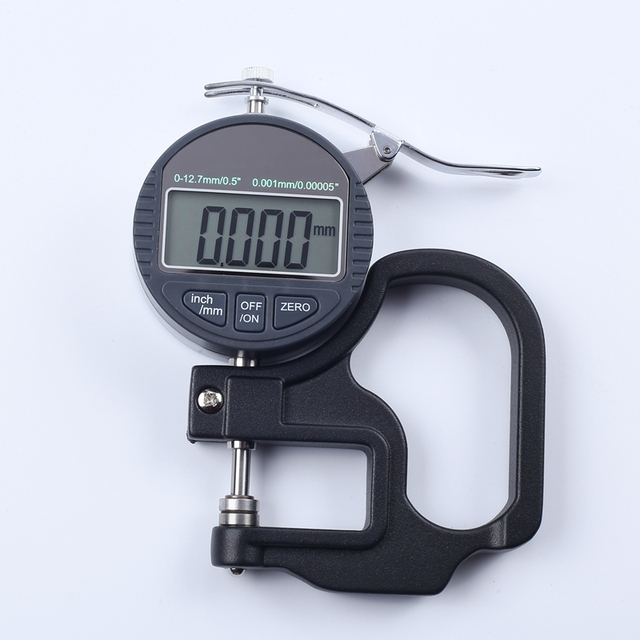 0 001mm Digital Thickness Gauge Meter 10mm Portable Lcd Electronic Micrometer Micron Thickness Tester With Rs232 Data Output