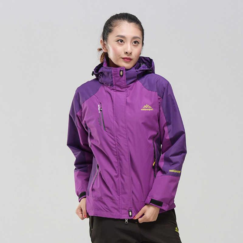 女性の冬 2 個ソフトシェルフリースジャケットアウトドアスポーツ防水熱ハイキングスキー女性コート