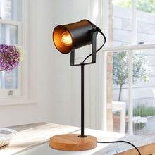 Mỹ Đèn Bàn Ascelina Vintage Loft Gỗ Đèn LED Để Bàn Có Thể Điều Chỉnh Đèn Đọc Sách Văn Phòng Đèn Chiếu Sáng Gia Đình Trang Trí Các Cửa Hàng