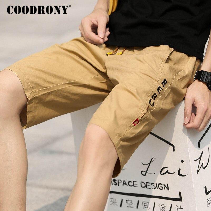 Шорты COODRONY мужские, модные, повседневные, хлопковые, с карманами, лето 2019
