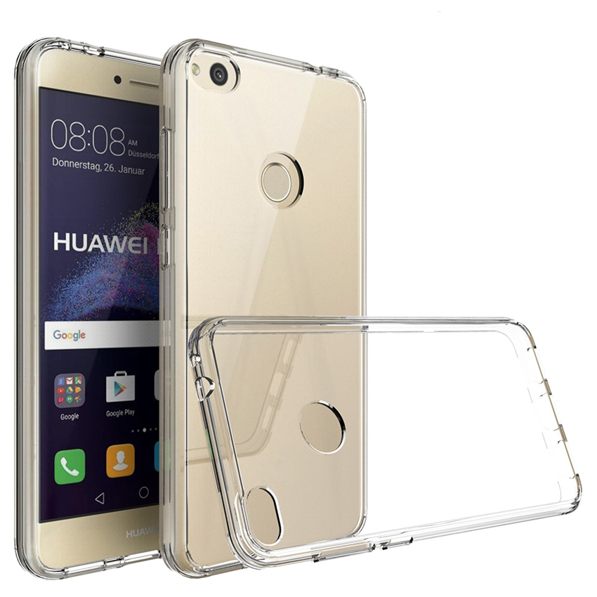 Soft TPU Frame + Transparent Hard PC Back Cover Shockproof Crystal Clear Case For Huawei Honor 8 Lite P8 P9 Nova Lite <font><b>GR3</b></font> <font><b>2017</b></font> image