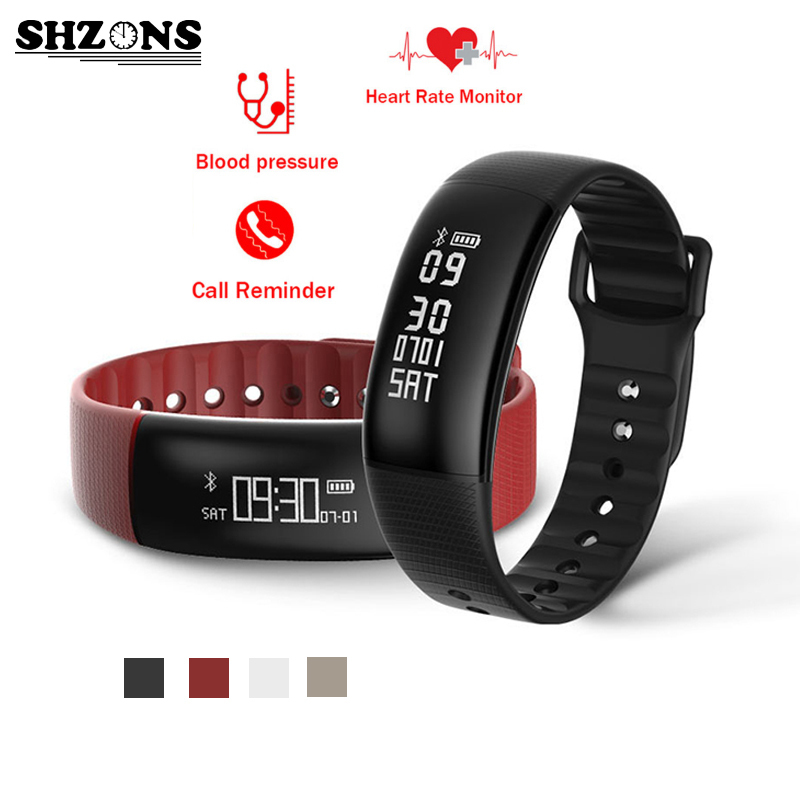SHZONS A69 Smart Bracelet Pedometer Heart Rate Watches Blood Pressure Fitness Tracker Smartband PK for mi band 2 PK for Fitbit