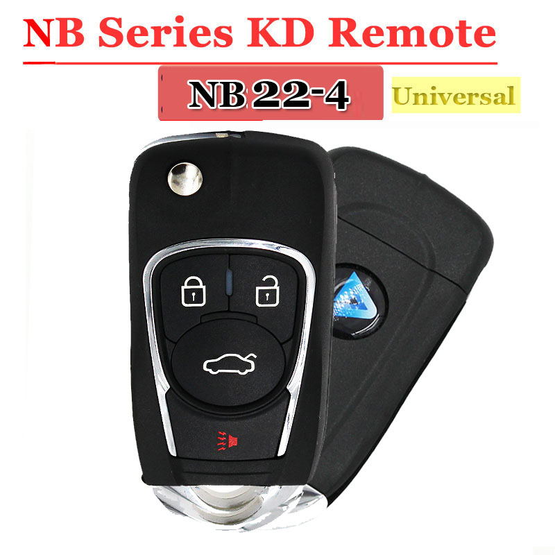 Free Shipping (1 Piece)NB22 Universal Multi-functional Kd900 Remote 4 Button NB Series Key For KD900 URG200 Remote Master
