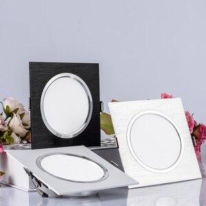 Image 2 - 2.5 אינץ Downlight LED 6 w 9 w 12 w 220 v טבע לבן כיכר שקוע LED מנורת ספוט אור לסלון מבואה שינה מטבח