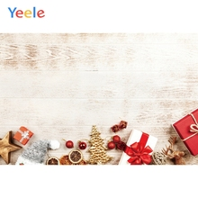 Yeele Christmas Photocall Grunge Wood Gifts Ins Photography Backdrops Personalized Photographic Backgrounds For Photo Studio