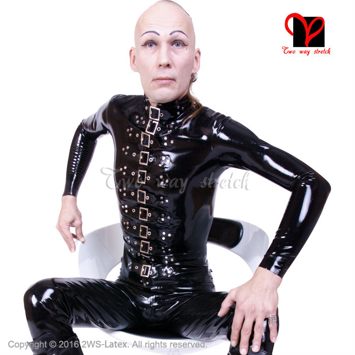 Rubber military fetish dress