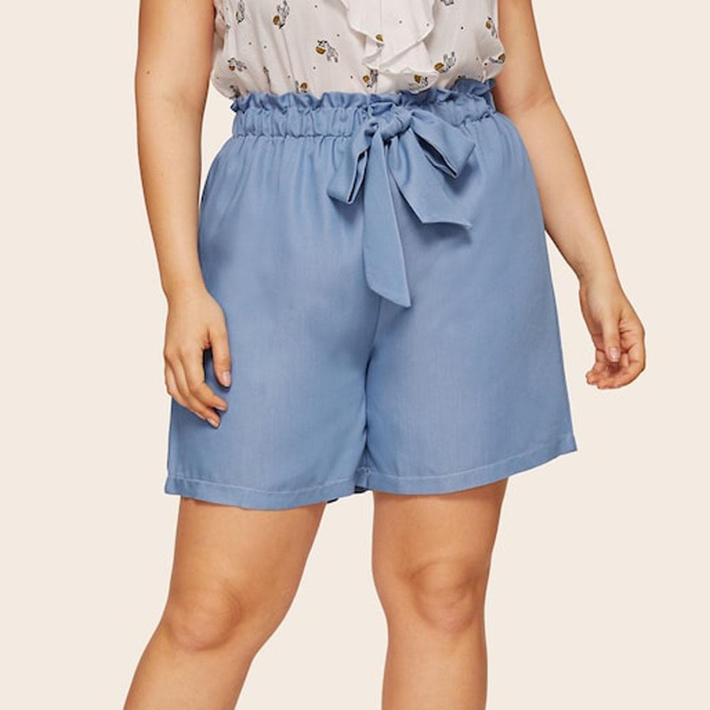 Shorts Women Shorts Pantalon Corto Mujer Verano Szorty Damskie Spodenki Plus Size Lacing Casual Solid Loose Sexy Shorts Z4
