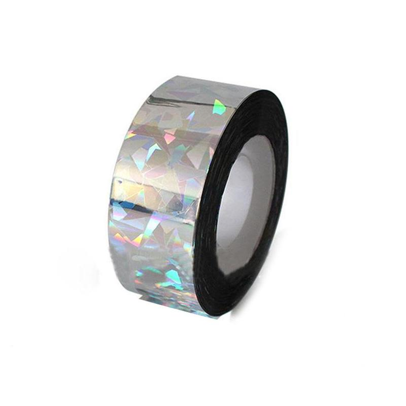 Bird Scare Tape Holographic Repellent Design Double Sided Reflective Scarecrow Ribbon Bird Deterrent Tape
