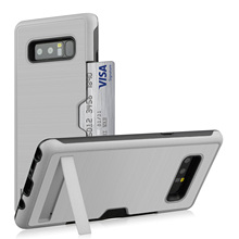 For Samsung Galaxy Note 8 Case Silicone Luxury hard stand card slot Soft Protective Phone Cases For Samsung Note 8 Note8 9 Cover protective silicone back case w stand for samsung galaxy note 3 white