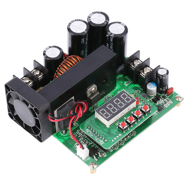 900W Digital Control DC-DC Boost Module great Step-up Converter Power Supply Module CC/CV LED Display 0-15A IN 8-60V OUT 10-120V