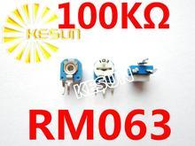 RM063 100 K Ом 104 RM-063 Горизонтальный Регулируемый По Вертикали Подстроечный Резистор Резистор x500PCS