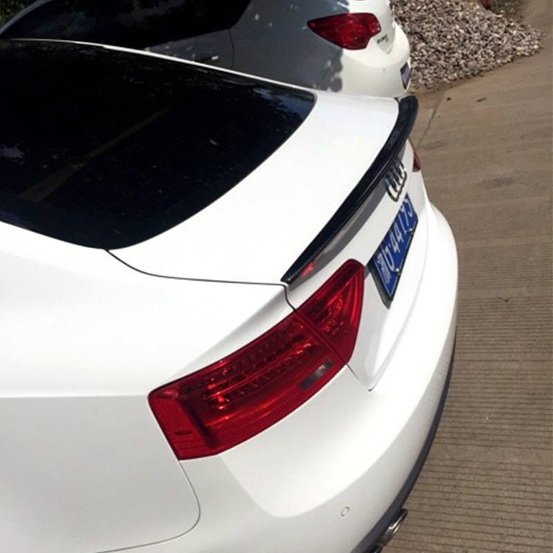 Для Audi A5 Sportback изменение S5 Стиль углерода Волокно задний багажник спойлер крыло автомобиля 4 двери 2009-2016