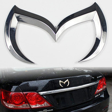 New Hot Sale 1x 3D Bat Batman Gobo Symbol Car Tail Rear Back Metal Alloy Emblem Badge Decal Sticker for Mazda 3 5 6 Silver 0027