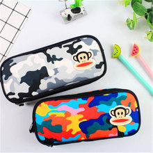 1PC Cute comical monkey Canvas Pencil Cases Stationery Storage Pen Bag Gifts School Office Pencil Bags Lovelty Pencil Pouch