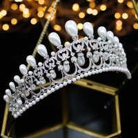 ASNORA aaa Cubic Zirconia Superiore Della Perla Della Sposa accessori per capelli Confezione regalo Confezione regalo Dei Monili delle Donne Sposa