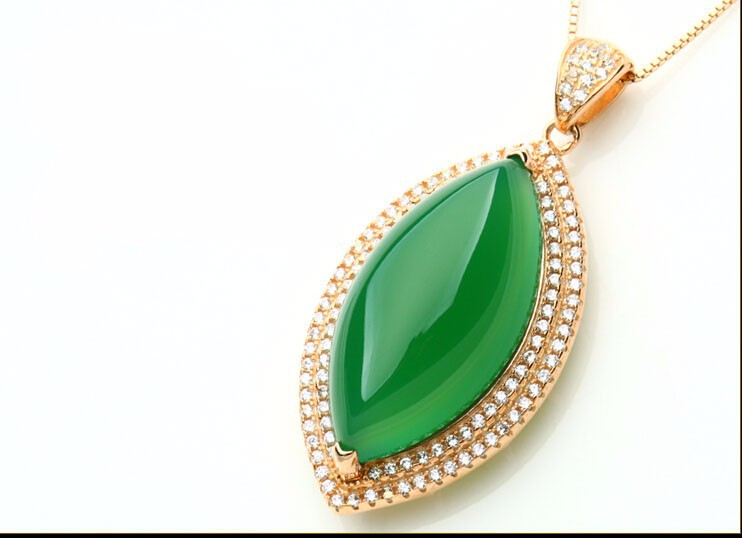 Здесь можно купить  Fashion  Pure 925 Sterling Silver Green Chinese 100% Natural /Jadeite Pendant With Certificate  Ювелирные изделия и часы