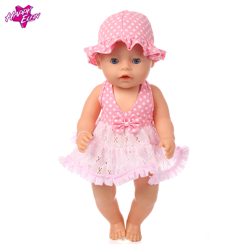 New Arrival pink lace dress Doll Clothes For Girls 43cm Baby Born zapf 18 in doll clothes Children best Birthday Gift Doll Dress клещи jtc 1344a