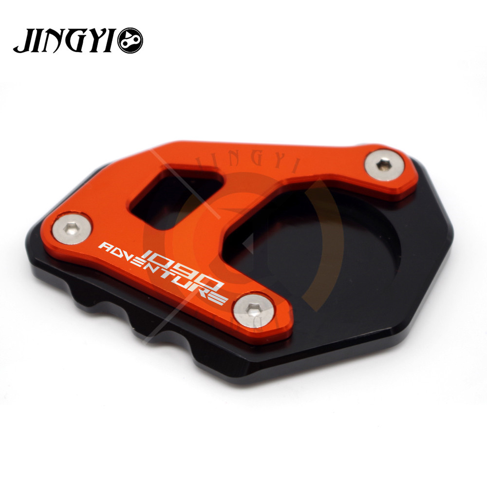 FOR KTM 1090 Adventure Motorcycle Kickstand CNC motorcycle Side Stand Enlarge extension Pad with 1090 Adventure logo цена