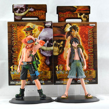 2pcs/set 16cm One Piece Monkey D. Luffy ace anime figures Action Figures PVC toys juguetes brinquedos B555