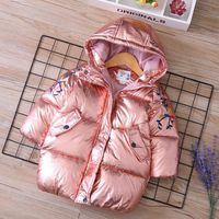 Russian Toddler girl winter silver parka real fur hooded coat kids snowsuits winter Teenager long down jacket 4 6 12 years