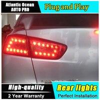 A&T Car Styling for Mitsubishi LANCER Taillights 2010 2012 for LANCER LED Tail Lamp Rear Lamp DRL+Brake+Park+Signal led lights