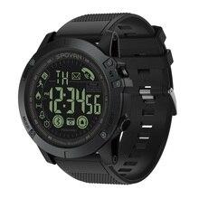 ساعة رياضية ماركة سبوفان سوداء عالية الجودة عسكرية عسكرية ساعة يد بلاستيك مزودة بخاصية البلوتوث وتاريخ مقاوم للماء