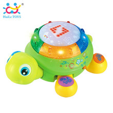 English & Spanish Language Electric Turtle Toy with Music & Light Early Educational Toys for Children(China)