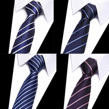 Brand 2018 New Silk  Neck Tie 7.5cm  Vintage Gravata Silk Neck Ties For Men Wedding Tie Mens Slim Neckties Cravate Striped