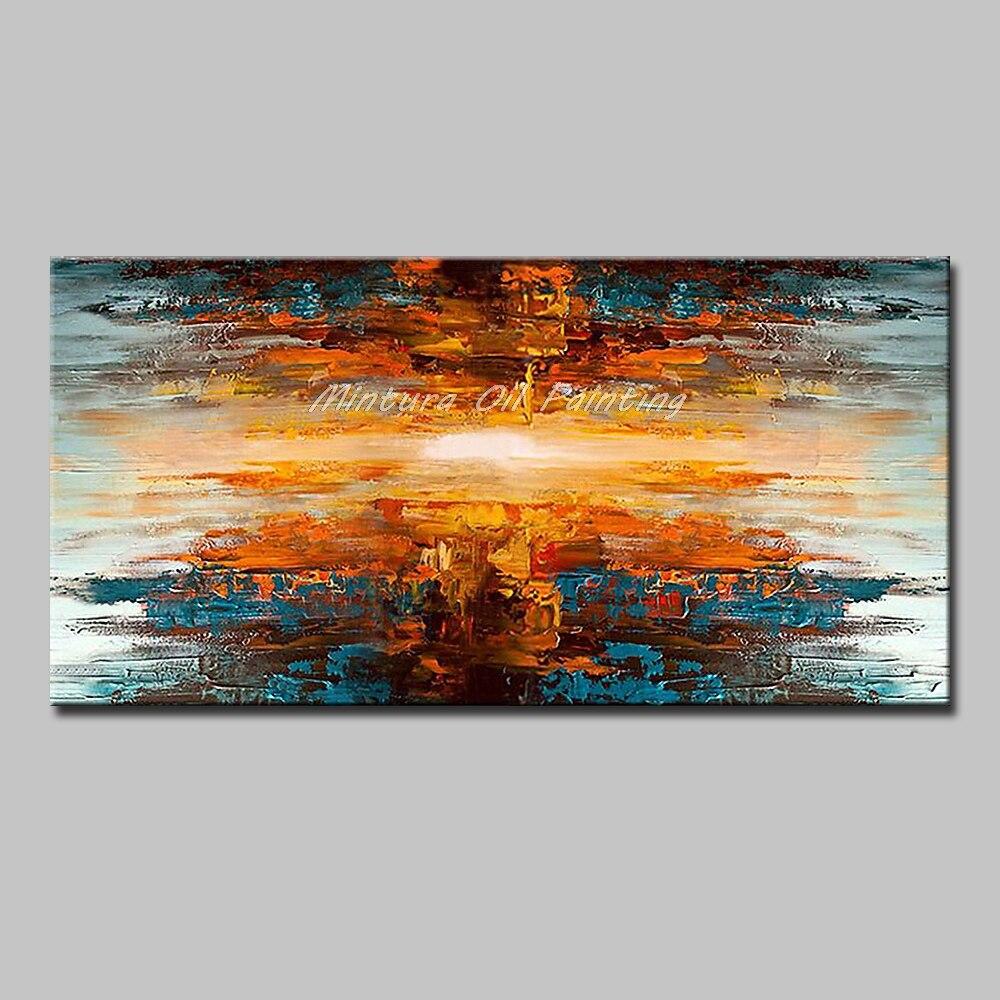 Mintura Art Большой размер Ручная роспись абстрактный пейзаж картина маслом на холсте современный настенный Декор картина для гостиной без рамы - Цвет: MT161274