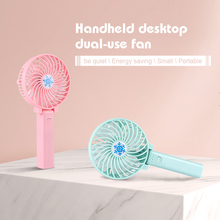 Mini Handheld Fan Cooler USB Charging Desk Rechargeable ABS Portable For Office Outdoor Household Travel