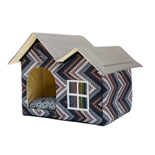 Large Folding Cotton Dog's House with Mat