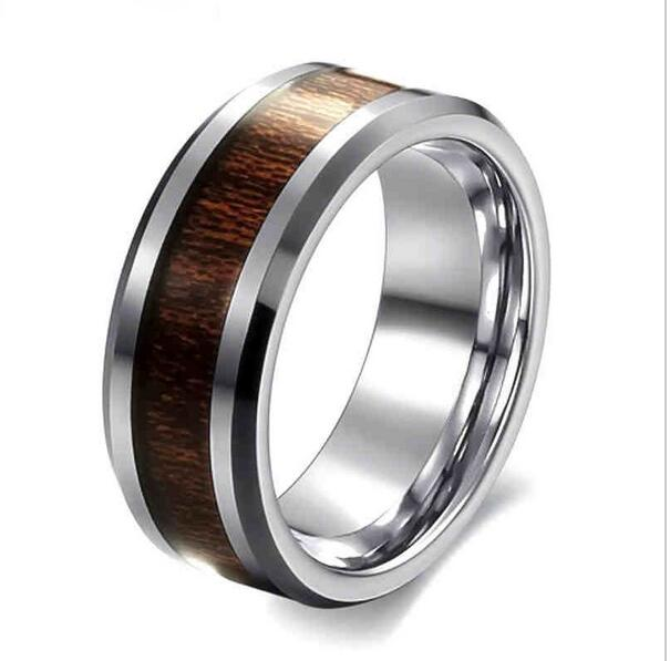 europe and the united states retro wood ring 2017 creative drops of oil does not change - Cheap Wedding Ring