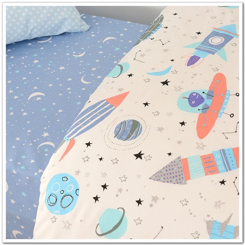 1 Meter 100 X160cm Weltraum Drucke 100% Baumwolle Twill Stoff Für Diy Baby Bettwäsche Quilt Abdeckung Bett Blatt Kissen Fall Cr-479