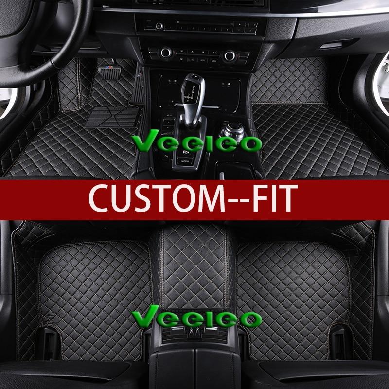 Veeleo 8 Colors Leather Car Floor Mats For Acura MDX 7