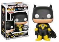 2017 NYCC Exclusive Funko pop Official Glow In The Dark DC: Yellow Lantern Batman Vinyl Action Figure Collectible Model Toy