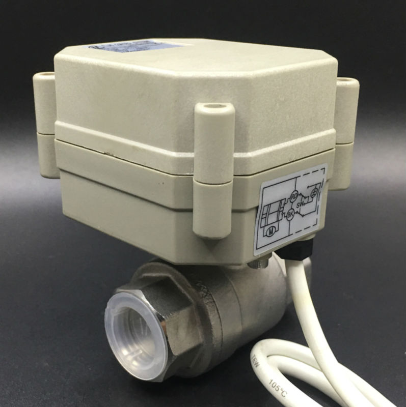 TF15-S2-A BSP/NPT 1/2 2 Way DN15 Electric Actuated Valve DC12V or DC24V 2/3/5/7 Wires Max 1.0Mpa On/Off 5 Sec CE IP67TF15-S2-A BSP/NPT 1/2 2 Way DN15 Electric Actuated Valve DC12V or DC24V 2/3/5/7 Wires Max 1.0Mpa On/Off 5 Sec CE IP67