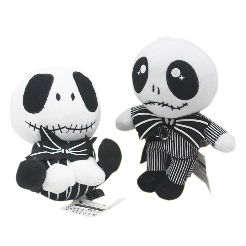 20-25cm 2 Styles 2020 MOVIE The Nightmare Before Christmas Jack Skellington In Suit Plush Toy Stuffed Doll Gift For Kids
