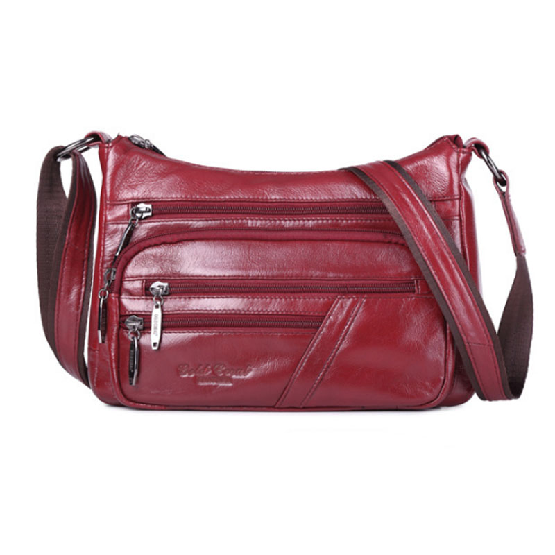 Women Sling Cross Body Bags High Quality New Fashion Female Genuine Leather Messenger Shoulder Bag