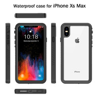 Waterproof Case IP68 Certified Full Body Sealed Shockproof Snowproof Dirtproof Underwater Protective Case for iphoneX XR XSMAX