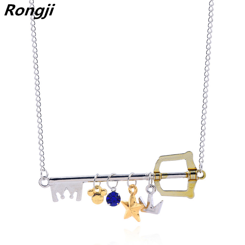 Us 1 5 25 Off Rongji Jewelry Kingdom Hearts Sora Key Weapon Charms Necklace Alloy Figure Cosplay For Women Factory Outlet In Pendant