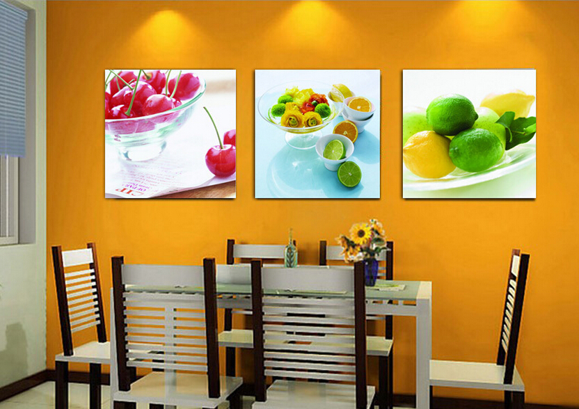 Decora o home moderna tela de pintura a leo 3 pe a for 16x16 kitchen designs
