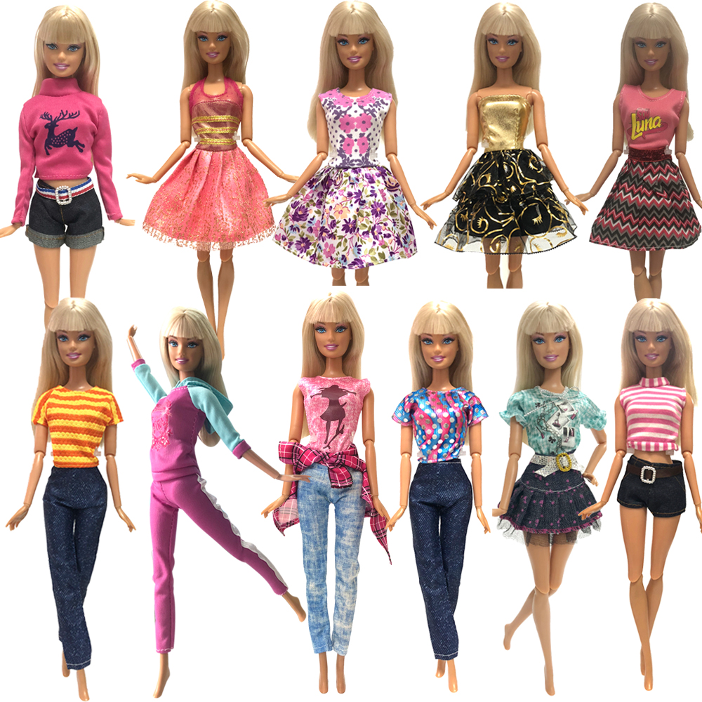 NK 2019 Doll Clothing Mix Style Outfits Casual Pants Suits For Barbie Doll Best Gift Baby Toy Doll Accessories Child Toy  JJ
