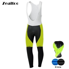 Zealtoo 2018 Spring Autumn Men Ropa Ciclismo Mtb Cycling Bib Pants Long Bike Tights Gel Padded Breathable Bicycle Culote