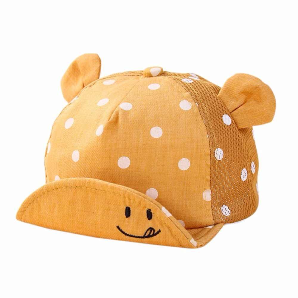 Infant Baby Boys Girls Lovely Smile Face Dot Robe Cap Cute Hooded Hat Children Toddler Baby Little Ear Hat 5 Colors